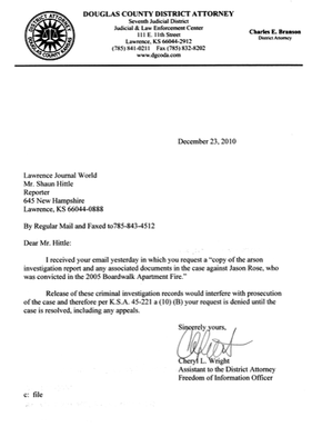 Denial Letter Gallery