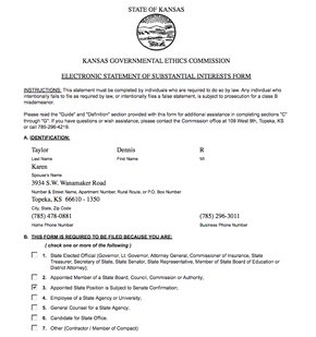 Administration Secretary Dennis Tayloru0027s Statement Of Interest
