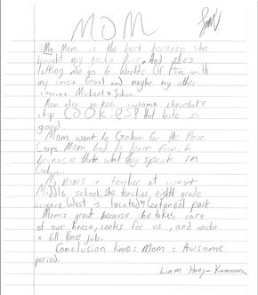 Cordley School 5th grade Mother's Day essays / LJWorld.com