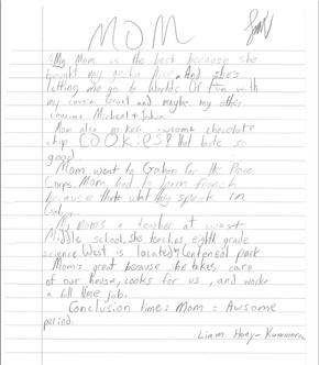 short descriptive essay about my mother And one day i had a really bad day with my friends, and she told me what to do   fourth-grader abigail wrote an essay that describes how great her mother is.