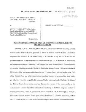 Schmidt v. Moriarty: Writ of Mandamus / LJWorld.com