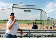 Paul Vander Tuig, chairman of the Baldwin Recreation Commission, helps run the baseball league in Baldwin. Baldwin has rejected a donation of land from Baker University for recreation facilities, but the city still is looking for land to help accommodate the growing number of participants in youth sports programs.