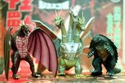 Godzilla's enemies are also in Tsutsui's collection.