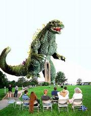 Godzilla invades Lawrence!