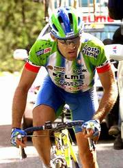 Santiago Botero won the 14th stage of the Tour de France on Saturday in 7 hours, 56 minutes and 13 seconds.
