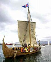 The Viking ship Islendingur is planning to retrace Leif Erikssons discovery voyage to North America from its starting point in southern Greenland.