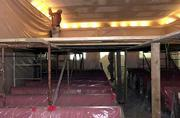 Rumsey-Yost Funeral Home Chapel is getting a new look. New lighting and drywall are part of the renovation, including Ronnie Walters' craftsmanship this week at the funeral home, 601 Ind.