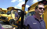 School bus drivers are in short supply for Laidlaw Inc., 1548 E. 23rd, and Wayne Zachary, driver development and safety supervisor, is offering bonuses to those who complete training and take on school district routes.