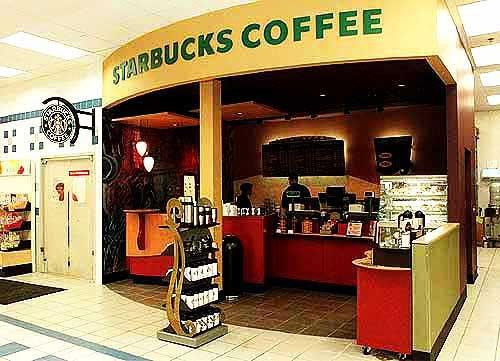 Photo: A kiosk offering Starbucks coffee is now open in ...