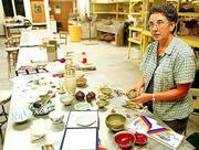 Judy Arnold, a nontraditional ceramics student at Kansas University, recently returned from a five-week trip to China to learn about the ceramics made there.