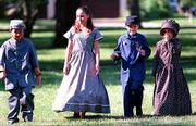"Youngsters dressed in Civil War period clothing enjoy the ""Civil War on the Western Front"" activities."