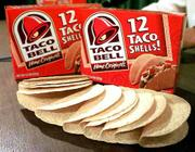 Packages of Taco Bell taco shells are displayed at a news conference in Montpelier, Vt. On Friday, Kraft Foods recalled the shells sold in supermarkets after tests confirmed they were made with corn that isn't approved for human consumption.