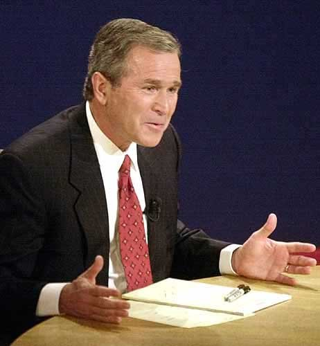 an essay on the debate of al gore and george w bush Memorable moments from presidential debates the second debate between president george h w bush and democratic vice president al gore audibly and.