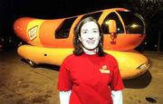 Allison Deutch, who graduated from Kansas University earlier this year, now works as a Hotdogger for Oscar Mayer. Deutch and her partner drive one of the company's Wienermobiles across the Midwest.