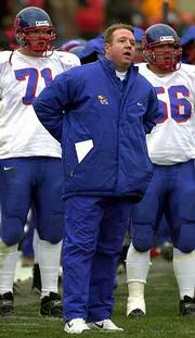 As Iowa State pulls away in the second half, Kansas football coach Terry Allen expresses his frustration. The Jayhawks closed the 2000 season with four losses in a row.