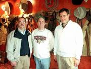 Hereford House opens Wednesday at 4931 W. Sixth St., featuring an upscale menu and more than $200,000 worth of chaps, saddles, cowboy paintings and other western-style decorations. Pictured from left are John Geiger, executive general manager; Doug Holiday, general manager, and Rod Anderson, owner.