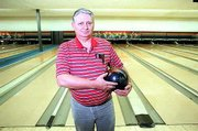 Lawrence's Walt Lesher rolled a 300 game at Royal Crest Lanes. He turned the trick the first of his life on Monday afternoon.
