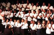 "The Lawrence M.L.K. Children&squot;s Choir sings ""America"" during last year&squot;s Martin Luther King Jr. Day observance at the Lied Center."