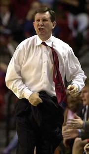 Livid Texas Tech coach James Dickey strips off his coat and vents. Dickey was angry with a call Saturday.