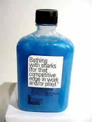 Not Soap, Radio is a new line of bath gels. The gels _ and their quirky names _ remind you not to take things too seriously.