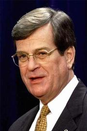 Senate Majority Leader Trent Lott, R-Miss., speaks at a news conference Friday on Capitol Hill. Lott predicted Sunday that Congress will approve by July 4 President Bush's $1.6 trillion tax cut plan.