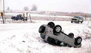 Bad weather and icy road conditions have caused several accidents in the area. A one-vehicle accident Friday landed a driver in a ditch west of Lawrence on Douglas County 442 near East 50 road.