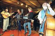 Bluestem, left to right; Rick Marshall, Jim Rood, Keith Alberding and Marvin Pine seen rehearse before the start of a recording session at Topeka's Exceptions Studio.