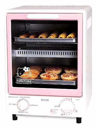 Japanese Countertop Oven : The HelloKitty toaster oven from Sanyo, designed to appeal to ...