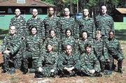 "Kasey Brown, middle row, third from right, is a Kansas University graduate who is a ""recruit"" on Fox&squot;s ""Boot Camp."""