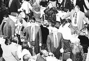 "Figures from the 2000 census show that Douglas County&squot;s headcount fell 38 people short of the 100,000 plateau. In January, citizens of the third-fastest-growing county joined hands to sing ""We Shall Overcome"" at the Martin Luther King Jr. banquet at the Kansas Union."