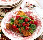 """The Artful Chicken,"" a new cookbook by Linda Arnaud, has a selection of poultry recipes. Chicken Cutlets With Chopped Tomatoes and Arugula is a variation on the classic that uses veal."