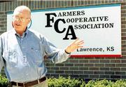 The Farmers Cooperative Assn. plans to auction its assets to settle last fall's bankruptcy filing. Don Dumler, the co-op's president and CEO, discusses the auction plans Wednesday at the Lawrence headquarters at 2121 Moodie Road.