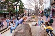 Boulder's Pearl Street Mall is the heart of downtown where arts, entertainment, shopping and dinning converge. One five-block stretch on the mall is closed to vehicles, creating a pedestrian park full of benches, street performers, outside dinning and seasonal arts and craft festivals.