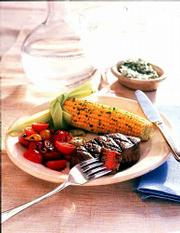 Traditional favorites, like Grilled beef Filets With Chive Butter, can be adapted to a low-fat diet. Grill some corn on the cob and cherry tomatoes to round out the meal.