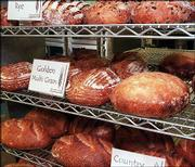 Some of the fine bread baked and sold at Wheatfields by Rita York and her staff.