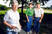 Fifty years after a torrent of water overcame their family farm, Pauline Nunemaker, her daughter, Mary Ross, (who was an infant during the flood), and her son-in-law, Pat, have returned the land to its former glory. For photos of their experiences during the flood, see page 6.