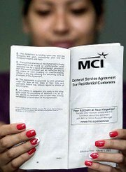 Millions of Americans are receiving notices in the mail that are intended to make sense of companies' policies involving rates for long-distance phone service. Among the notices is a booklet, above, being sent by MCI to its customers. It advises customers how they can determine their rates.