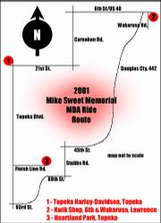 2001 MDA Ride route map, click to enlarge