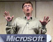 Microsoft Chairman Bill Gates says he plans to survive the technology downturn by turning to products and tightening its belt. Gates addressed members of a research faculty summit this week at Microsoft's headquarters in Redmond, Wash.