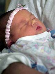 Alexis Michelle Cooper was born this week to a woman who had been in a coma since she was two weeks pregnant.