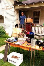 Jordan Martens is one of many students getting ready to move and trying to trim down inventory in the process. Saturday morning he tried to get rid of some possessions in preparation for leaving his Alabama Street residence.