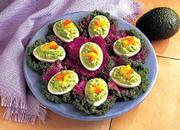 Avocado Angel Eggs made without mayonnaise are a lighter, savory version of deviled eggs.