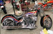 A Combs creation, his wife Lori's bike as it appeared in this year's Capitol City Bike Show