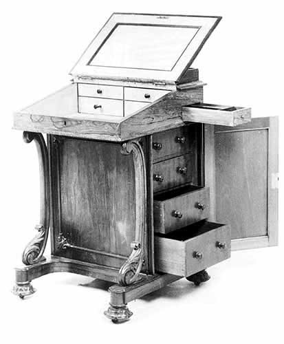 davenport desk plans