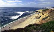 The La Jolla section of San Diego offers beautiful beaches, majestic ocean views and eye-catching rock formations.