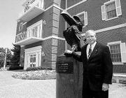 Fred Williams, president of the Kansas University Alumni Association, says the organization's year will include a feasibility study for building a continuing care retirement center and increased lobbying in the Legislature. Williams is pictured outside the Adams Alumni Center, 1266 Oread Ave.