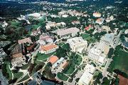 From sports to spending, the past year at Kansas University was a mixed bag. Tight state budgets continued to put a pinch on campus budgets, yet KU was able to land a high-scoring freshman class and continue cutting-edge research in a number of fields. This is an aerial view of campus looking northeast.