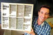 A massive collection of tiger beetles donated by Lawrence dentist David Brzoska and his wife, Judy, is one of the best in North America, says Professor Steve Ashe, pictured above, curator-in-charge of the division of entomology at the Kansas University Natural History Museum. The collection, valued near $485,000, includes more than 100,000 tiger beetles.