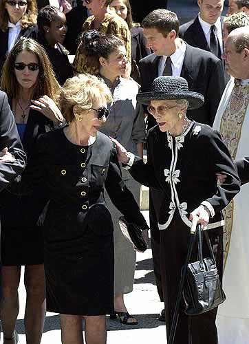 Photo Nancy Reagan Left And Jane Wyman Leave The