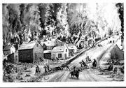 Quantrill's raid on Lawrence was depicted by many artists who created their images from stories about the Aug. 21, 1863, massacre. This version appeared in Harper's Weekly, Sept. 5, 1863.